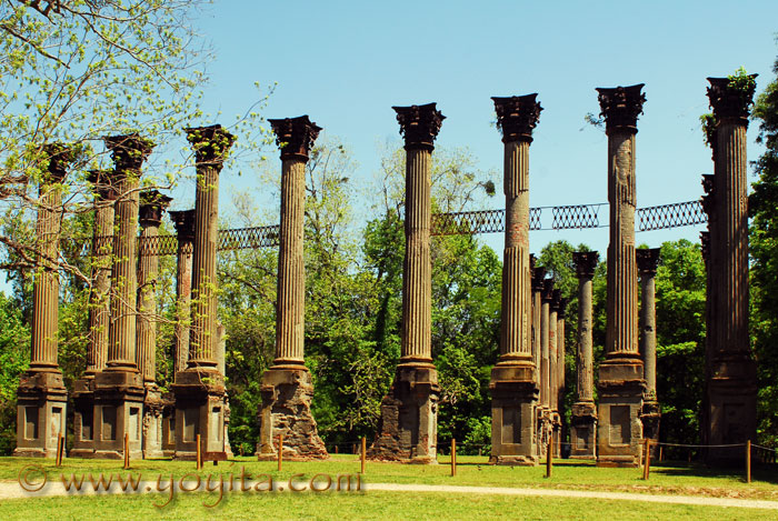 Windsor ruins mississippi greek revival antebellum mansion for Plantation columns
