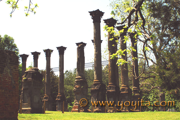 Windsor ruins Mississippi Greek Revival Antebellum home