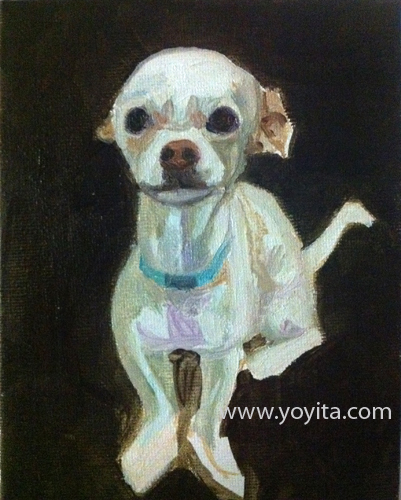 chihuahua sequence 3 the painting, learning to paint Atelier Yoyita