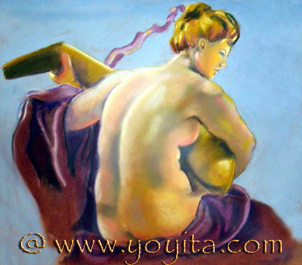 Nude with Lute © Dr. Gloria  M. Norris