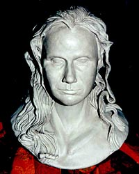 Skulptur Kopf von Gaby Lebensgröße Büste Skulptur © Dr. Gloria  M. Norris Yoyita